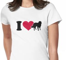 I love Australian shepherds Womens Fitted T-Shirt