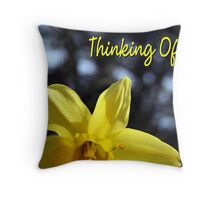 Yellow Daffodil - Thinking Of You Throw Pillow