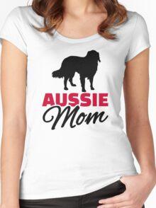Aussie Australian shepherd Mom Women's Fitted Scoop T-Shirt