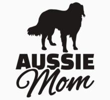 Aussie Australian shepherd Mom Kids Tee
