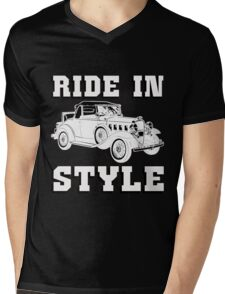 RIDE IN STYLE-2 Mens V-Neck T-Shirt