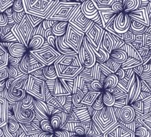 Held Together - a pattern of navy blue doodles Sticker