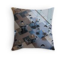 Tables and Chairs Throw Pillow