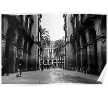 Barcelona - Urban Scene Poster