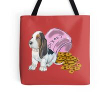 Baet hound spilled the cookies Tote Bag