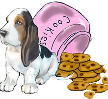 Baet hound spilled the cookies by IowaArtist