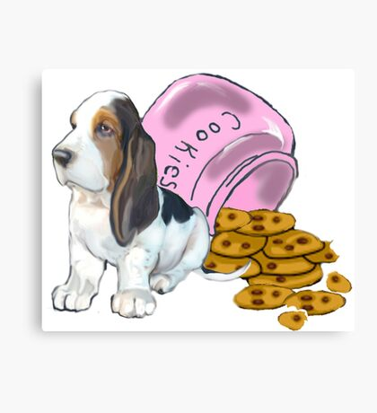 Baet hound spilled the cookies Canvas Print