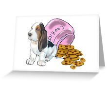 Baet hound spilled the cookies Greeting Card