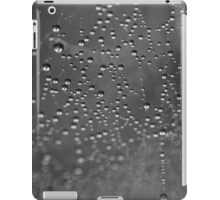 Dew drops on spiderweb iPad Case/Skin