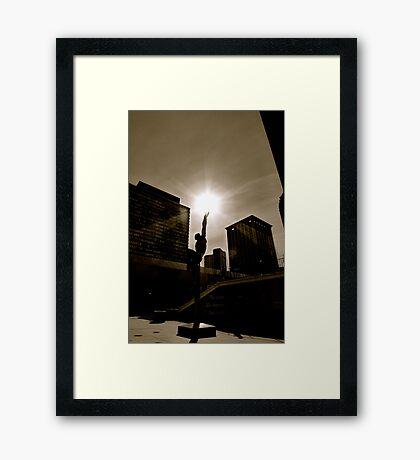 """""""Quest Eternal"""" Statue Framed Print"""