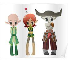 Dragon Age - Solas, Inquisitor, Iron Bull [Commission] Poster