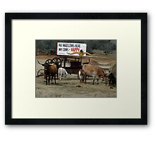No Mad Cows Framed Print