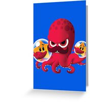 "Bubble Heroes - Boris the Octopus ""Starfish"" Edition Greeting Card"