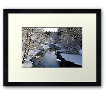 Winter Blankets Spring This Day Framed Print