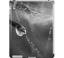 Dew drops and spiderweb  iPad Case/Skin