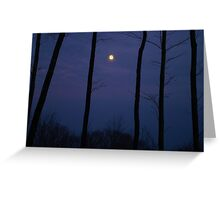 Vermont Moonlight Silhouette Greeting Card