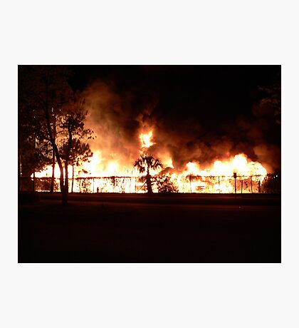 Carport Ablaze Photographic Print
