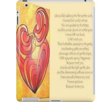 "Signposts Saying ""Happiness"" Greeting Card iPad Case/Skin"
