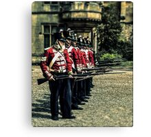 Holding the thin red line Canvas Print