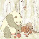Panda Tea Party by Chelsea Greene Lewyta