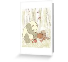 Panda Tea Party Greeting Card