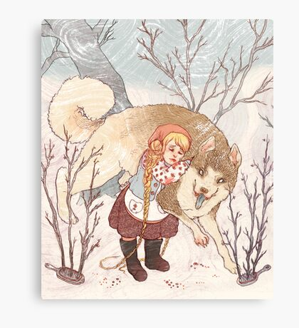 The Little Snow Girl Canvas Print