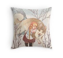 The Little Snow Girl Throw Pillow