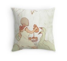 Swan Tea Party Throw Pillow