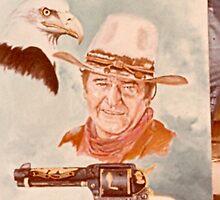 John Wayne and Eagle by dummy