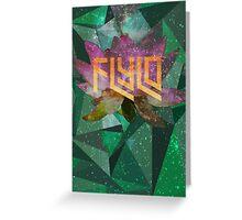 Flying Lotus Flower Greeting Card