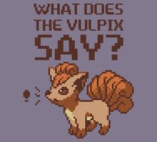 What does the vulpix say? Kids Clothes