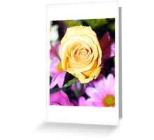Yellow over pink Greeting Card