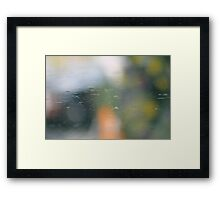 Water reflection of flower colours  Framed Print