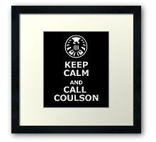 Keep calm and call coulson Framed Print