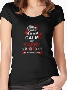 Keep Calm and Carry On My Wayward Sons Women's Fitted Scoop T-Shirt