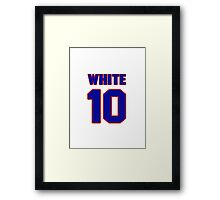 National baseball player Bill White jersey 10 Framed Print