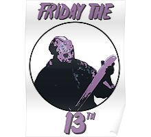 Jason Friday The 13th Poster