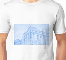Acropolis of Athens  - BluePrint Drawing Unisex T-Shirt