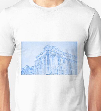 Acropolis of Athens  - BluePrint Drawing Unisex T-Shirt