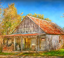 Naugle's Store & Post Office - Brixey Missouri by Jerry E Shelton