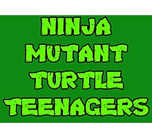 Ninja Mutant Turtle Teenagers Photographic Print