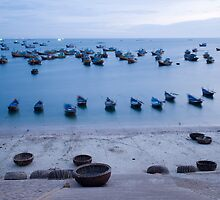 Boats at Sunset by luxquarta