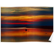Sunset Over The Crouch Poster