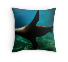 Flying Below Throw Pillow