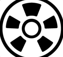 Mandala 21 Back In Black Sticker