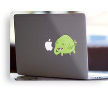Mac Sticker - How's That Apple? - Tree Trunks Metal Print