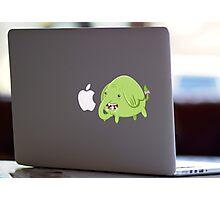 Mac Sticker - How's That Apple? - Tree Trunks Photographic Print