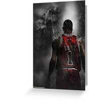 Derrick Rose Chicago Bulls Greeting Card
