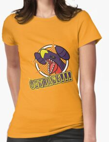 Garchomp's Outrage Womens Fitted T-Shirt