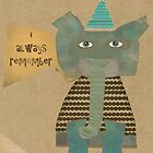 clever little elephant by bri-b